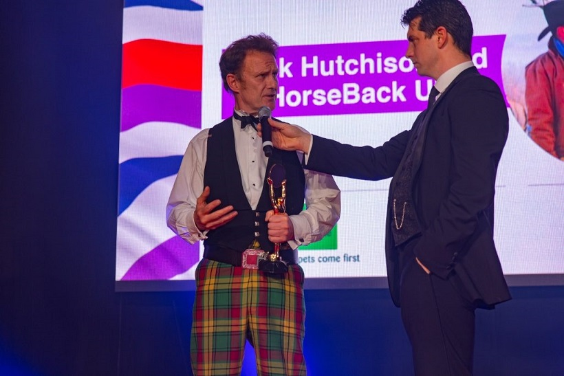 Jock Hutchison of HorseBack UK receives Soldiering On award – 2017